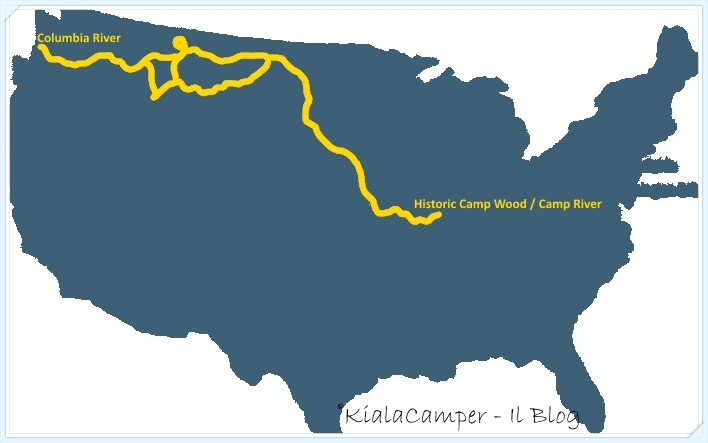 Lewis and Clark map