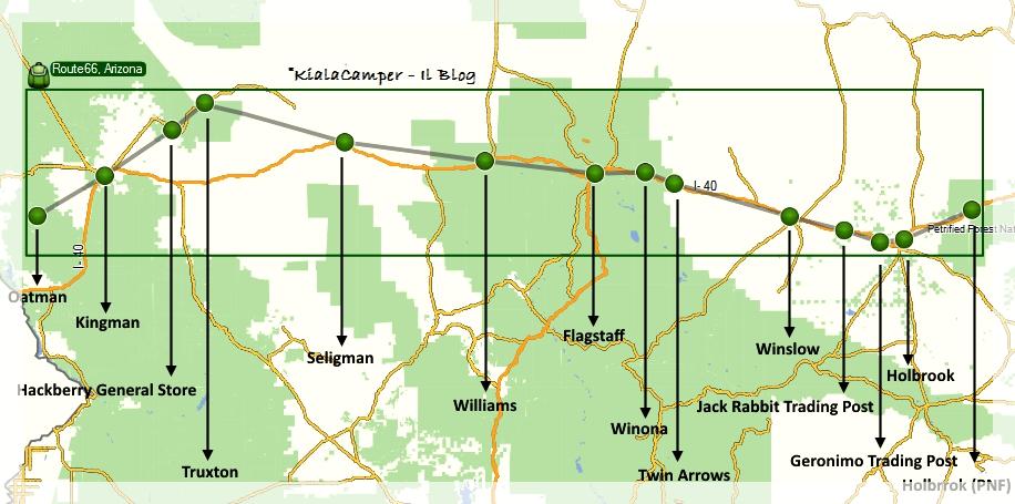 Don't forget Winona: percorrendo la Route66 in Arizona